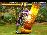 Street Fighter EX 2 Plus PlayStation With his Super Combo Torre Pendente activated, Vulcano Rosso is able to do 5 damaging hits in Area.