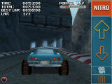 Stuntcar Extreme Advanced Windows Mobile External view on Rollercoaster track, entering tunnel