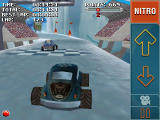 Stuntcar Extreme Advanced Windows Mobile Bubble and Stunt Saber cars on Icy Drifts track