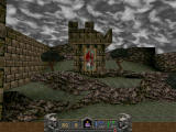 Hexen II Windows Destroying the old tower with balista.