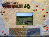 America's Toughest 18 Windows The map shows where each hole is located in the US.