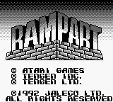 Rampart Game Boy Title Screen
