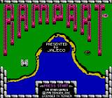 Rampart NES Title Screen (US)