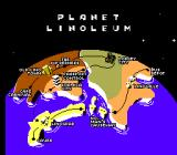 Cosmic Spacehead SEGA Master System Map of Planet Linoleum