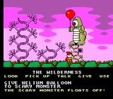Cosmic Spacehead SEGA Master System Getting rid of the scary monster