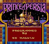 Prince of Persia Game Boy Color Title Screen