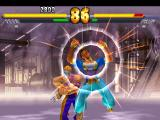 Street Fighter EX 2 Plus PlayStation Using his grabbing move Wire Smash, Vega throws aggressively Pullum Purna into the wall!