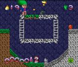 Super Troll Islands SNES 1st level - Avoid the enemies and brighten up the level.
