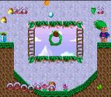 Super Troll Islands SNES A completed level.