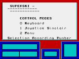 Downhill Challenge ZX Spectrum Main menu