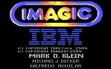 Touchdown Football PC Booter Imagic and IBM logos