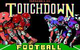 Touchdown Football PC Booter Title screen