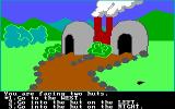 Troll's Tale PC Booter Hmm, some huts to explore (PCjr)