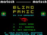 Blind Panic ZX Spectrum Main menu