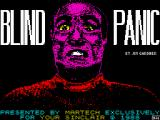 Blind Panic ZX Spectrum Loading screen
