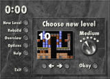 THiNK-X Windows 3.x Selecting a playing field and the difficulty level.