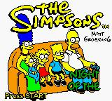 The Simpsons: Night of the Living Treehouse of Horror Game Boy Color Title screen.
