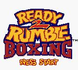 Ready 2 Rumble Boxing Game Boy Color Title screen.