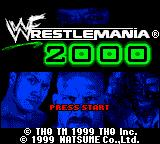WWF Wrestlemania 2000 Game Boy Color Title screen.