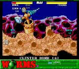 Worms SNES Getting ready to throw a cluster bomb