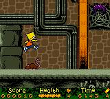The Simpsons: Night of the Living Treehouse of Horror Game Boy Color Now, Bart avoids a simple mouse with a simpler jump.