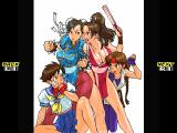 Capcom vs. SNK Pro PlayStation Gallery Mode picture showing Chun-Li, Mai, Sakura and Yuri solving some particular issues...