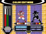 Capcom vs. SNK Pro PlayStation Color Edit Mode customization screen.