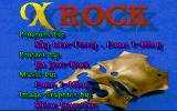 X Rock DOS Title screen.