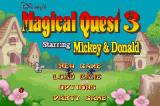 Disney's Magical Quest 3 starring Mickey & Donald Game Boy Advance Title/Main Menu