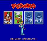 Disney's Magical Quest 3 starring Mickey & Donald SNES Password screen - allows you to continue your game.