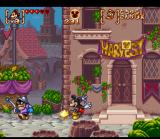 Disney's Magical Quest 3 starring Mickey & Donald SNES Spin blocks or enemies you've stomp on at other enemies.