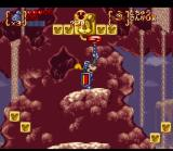 Disney's Magical Quest 3 starring Mickey & Donald SNES Mickey can aim in all director with his lance.