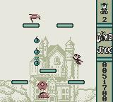 Bomb Jack Game Boy Level 3 with medieval architecture