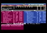 HardBall! Atari 8-bit Player selection