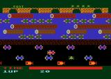 Frogger Atari 8-bit A frog crossing the road (Parker cartridge version)