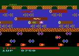 Frogger Atari 8-bit Try to rescue the female frog