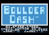 Boulder Dash Atari 8-bit The main menu
