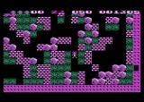 Boulder Dash Atari 8-bit I found the exit, but accidentally blocked it with boulders!