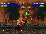 Mortal Kombat Trilogy PlayStation The carnage starts with Baraka, that attacks Jade with his fast hand-claw move Blade Fury.