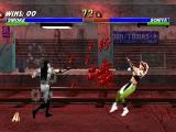 "Mortal Kombat Trilogy PlayStation In the subway, Human Smoke attacks with ""his"" Spear move: come here, Sonya Blade! ;-D"