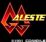 GG Aleste Game Gear Title screen