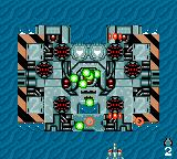 GG Aleste Game Gear A floating platform is the boss