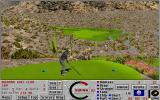 Links: Championship Course - Bighorn DOS teeing off a cliff, hole 5 - Links 386 SVGA