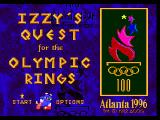 Izzy's Quest for the Olympic Rings Genesis Title screen