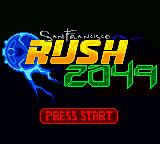 San Francisco Rush 2049 Game Boy Color Title screen.