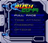 San Francisco Rush 2049 Game Boy Color Main menu.