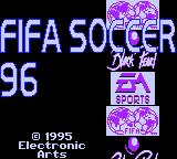 FIFA Soccer 96 Game Gear Title screen