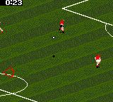 FIFA Soccer 96 Game Gear Kicking the ball upfield