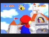Super Mario 64 Nintendo 64 Mario checks out Princess Toadstool's castle. He's up for some lovin' tonight thats for sure!