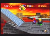 Super Mario 64 Nintendo 64 Mario evades an annoying bomb-based baddie in Lethal Lava Land